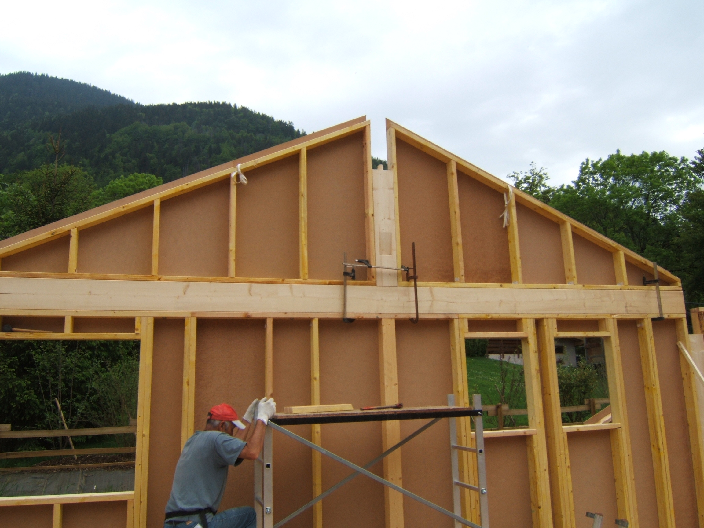Montage De L Ossature Bois 28 Images Construction