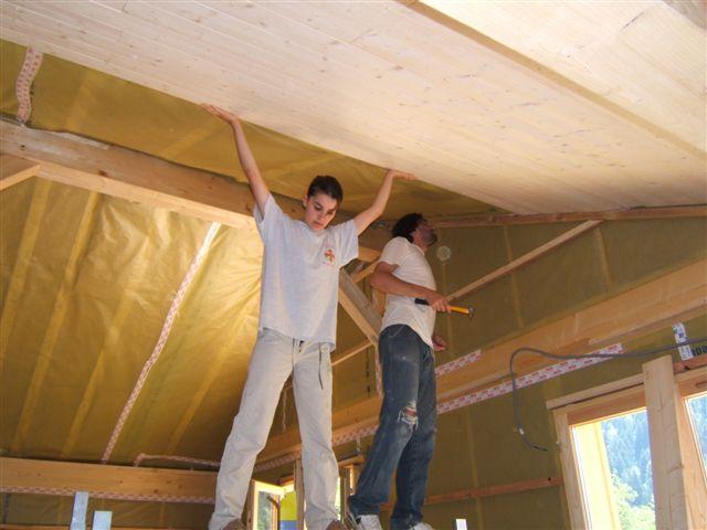 Notre maison ossature bois de a z platre tras - Pose placo sur ossature bois ...